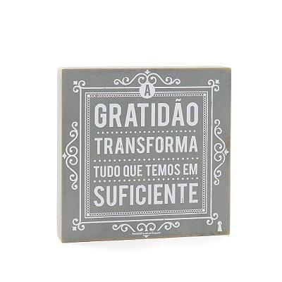 Quadro Box A Gratidão 25x25