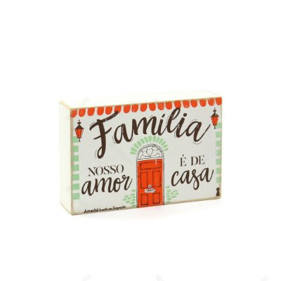 Quadro Box Família Casa 10x15