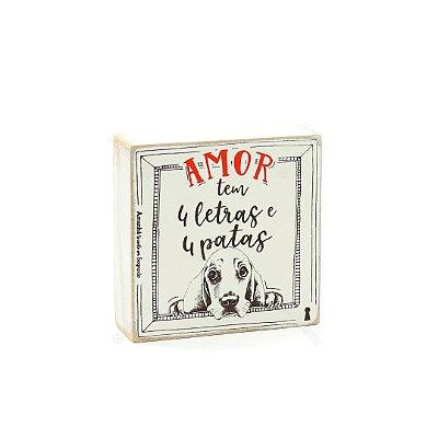 Quadro Box Amor 4 Patas 12x12