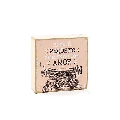 Quadro Box Pequeno Amor 12x12