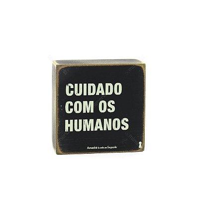 Quadro Box Cuidado Humanos 12x12
