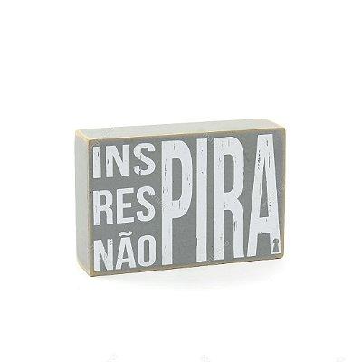 Quadro Box Inspira Cinza 10x15