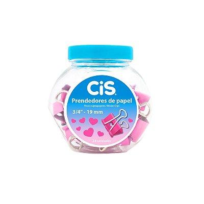 Kit de Prendedores de Papel Coração Rosa
