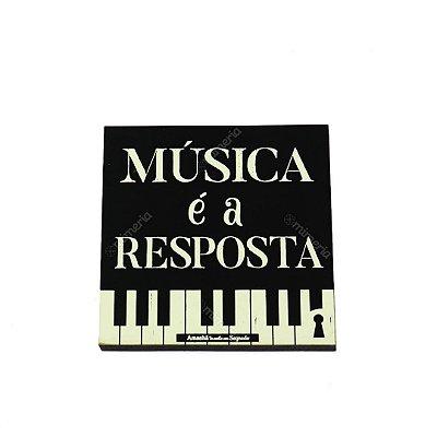 Imã Porta Copo Música Answer