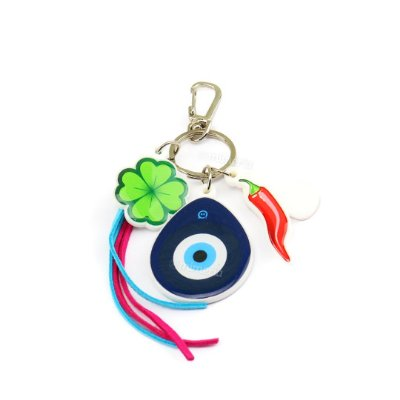 Chaveiro Estampado Olho Grego Amuletos da Sorte