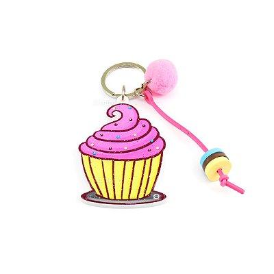 Chaveiro Estampado Ultra Violeta Cupcake