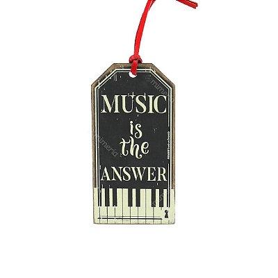 Plaquinha Tag Music Answer