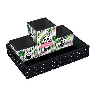 Organizador de Mesa Decorado Panda
