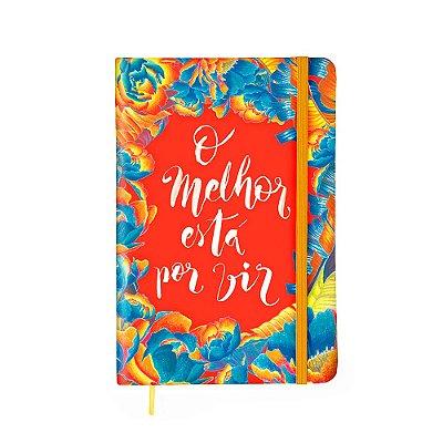 Caderneta Pautada Floral O Melhor Está Por Vir Média