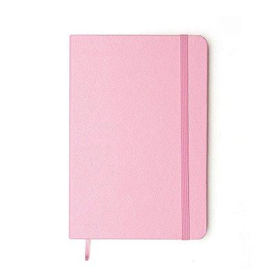 Caderneta Pontada Clássica Rosa Pastel