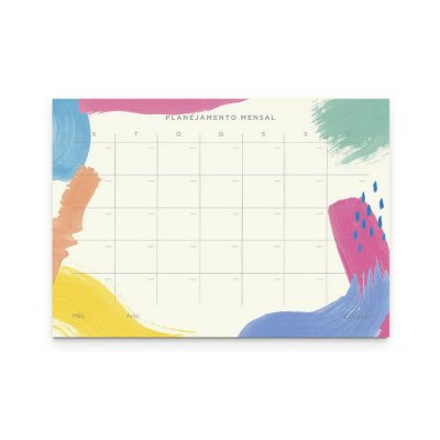 Bloco Planner Mensal Canvas