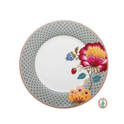 Prato de Jantar Azul Floral Fantasy Pip Studio