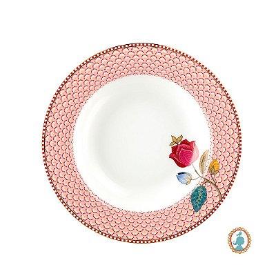 Prato de Sopa Rosa Floral Fantasy Pip Studio