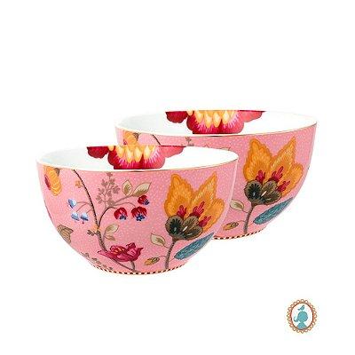 Set/2 Tigela 15 Rosa Floral Fantasy Pip Studio