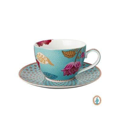 Xícara de Chá Azul Floral Fantasy Pip Studio