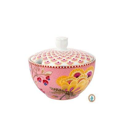 Açucareiro Rosa Floral Fantasy Pip Studio