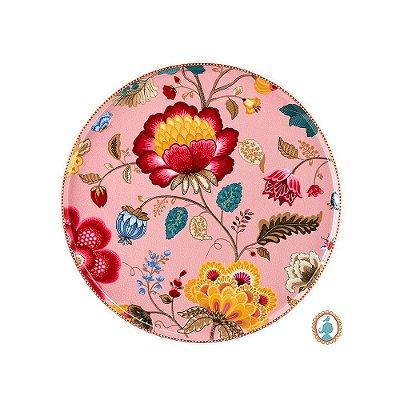 Prato para Bolo Rosa Floral Fantasy Pip Studio