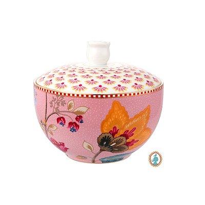 Pote para Algodão Rosa Floral Fantasy Pip Studio