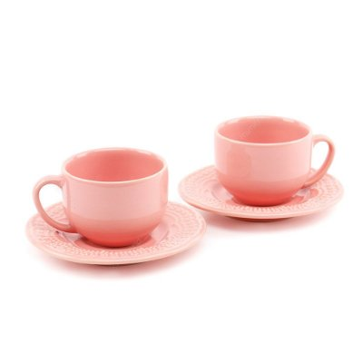 Conjunto de Xícaras de Chá 2 Peças Madeleine Rosa Porto Brasil