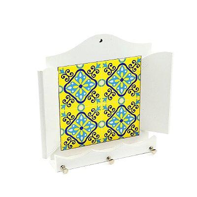 Porta Chaves MDF Ladrilho Amarelo