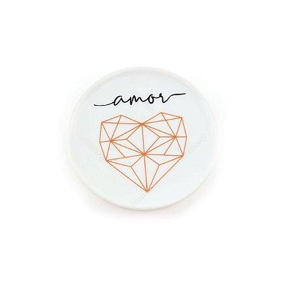 Porta Anel Decorativo Origami Amor