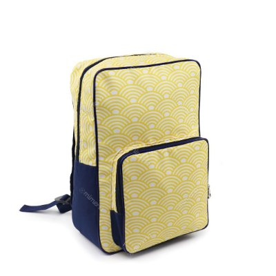 Mochila de Nylon Daily Geométrica Amarela