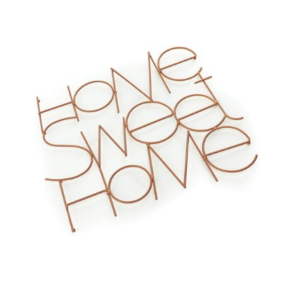 Letreiro Decorativo em Metal Home Sweet Home