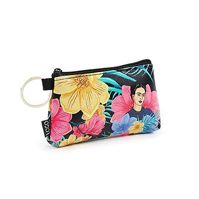 Necessaire Niqueleira Frida Khalo Floral Preta