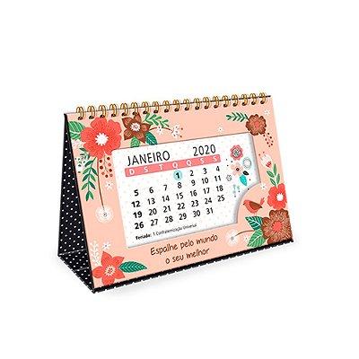 Calendário de Mesa 2020 Decorado Jardim