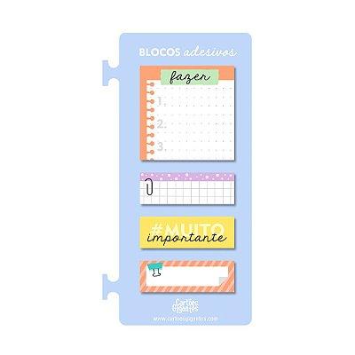 Kit Blocos Adesivos de Notas Azul