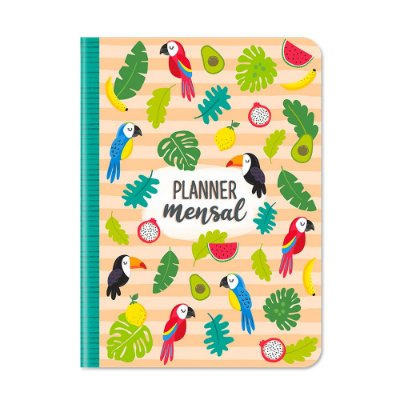 Planner Mensal Tropical Bege
