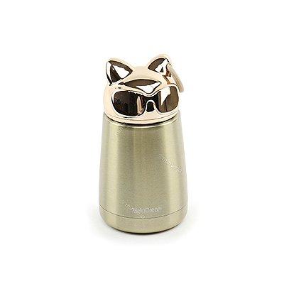 Garrafa Térmica de Inox a Vácuo Gato Dourado