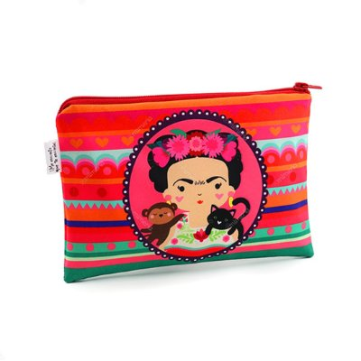 Necessaire Frida Colores Média
