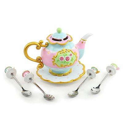 Bule Decorativo com 4 Colheres Alice