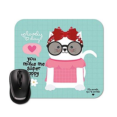 Mouse Pad Happy Gato