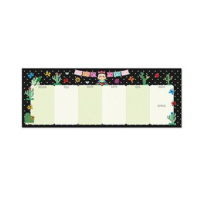 Bloco Planner Semanal Teclado Frida Color