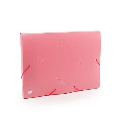 Pasta com Elástico com Dorso 20 mm Ofício Rosa