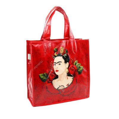 Eco Bag Frida Kahlo Flores Vermelhas