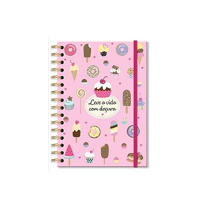 Caderno Clássico Decorado Docinhos