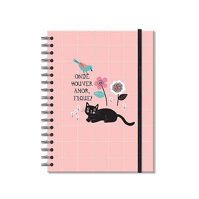 Caderno Colegial Gatos 200 Folhas