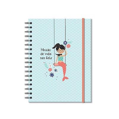 Caderno Colegial Sereias 200 Folhas