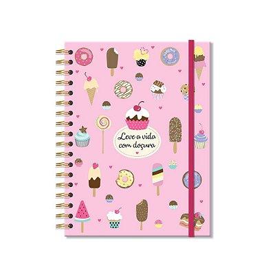 Caderno Colegial Docinhos 200 Folhas