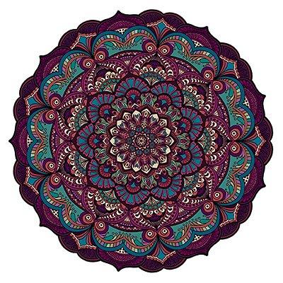 Tapete Mandala do Amor Rosa, Turquesa e Vinho