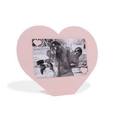 Porta Retrato Magnético Coração Rosa