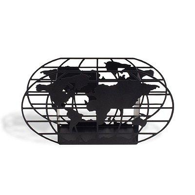 Porta-Lápis Mapa Mundi Preto