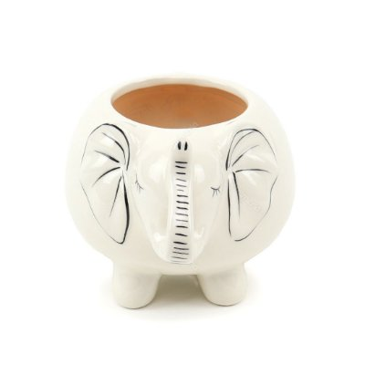 Cachepô Elefante Branco