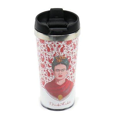 Copo Térmico em Plástico Frida Kahlo Pássaros