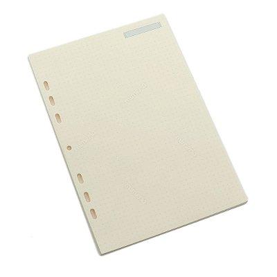 Refil Caderno Ultra Pontilhado Folhas Amarelas