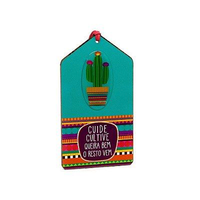 Plaquinha Tag Cacto Mexicano