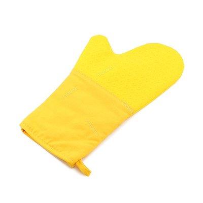 Luva Silicone e Algodão Amarela 35 cm